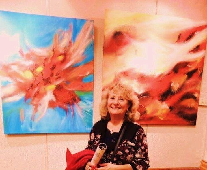 Exposition,  peinture,  abstrait,  MVA,  Béziers,  abstrait
