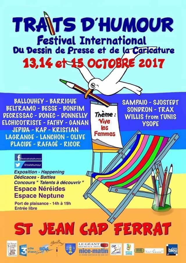 Exposition, Saint Jean Cap Ferrat, TRAITS D'HUMOUR, DESSIN DE PRESSE, CARICATURE